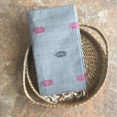 Uppada Cotton - Grey and Gold