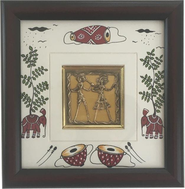 Dhokra And Saura Art Frame