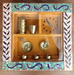 Brass and Mosaic Wall Clock