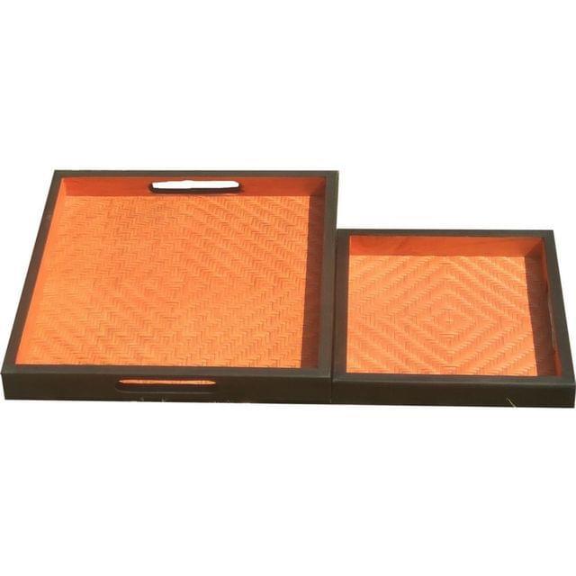 Bamboo Tray set of 2 Orange