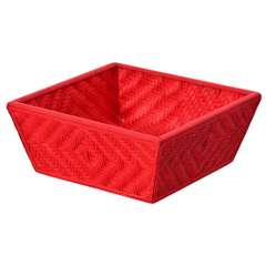 Bamboo Woven Basket Red