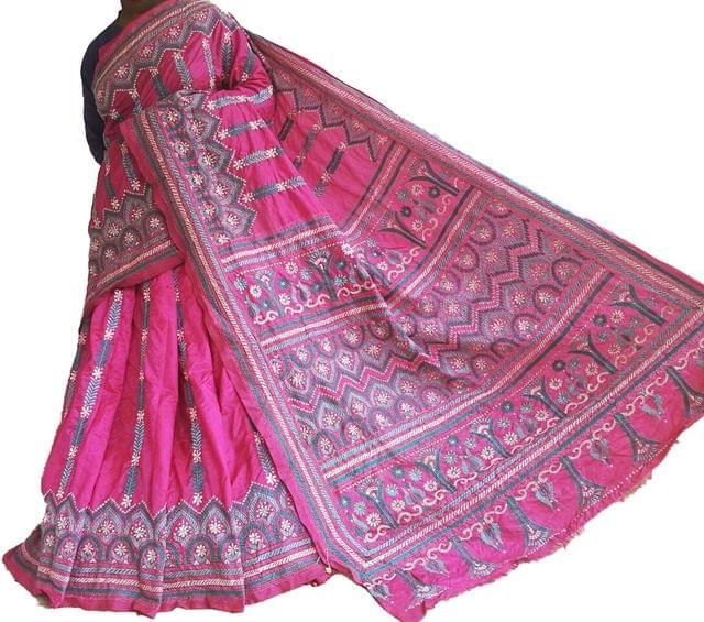 Kantha - Pretty Pink Silk
