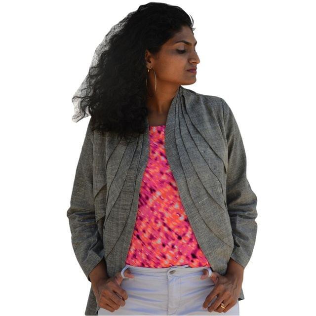 Khadi Cotton - Jacket  -  Grey