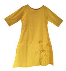 Khadi Cotton - Dress - Yellow