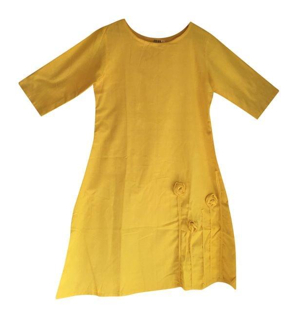 Khadi Cotton - Dress - Yellow
