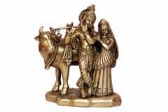 Brass Cow Krishna