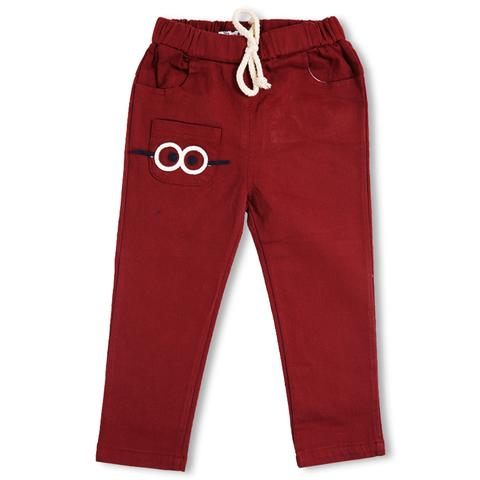 Maroon Pants with Eyes with Glass