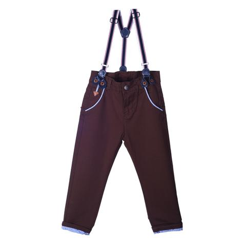 Brown Full Pants with Attached Suspender
