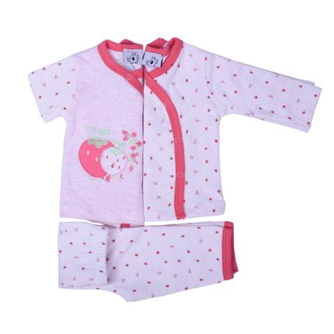Pink Strawberry Print Night Wear
