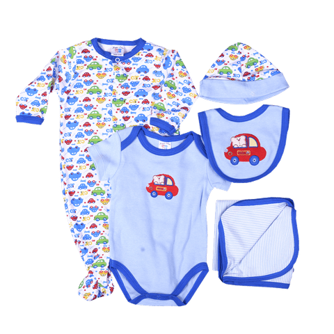 Blue & Red Car Print Gift Set