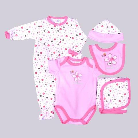Pink & White Flower Print Gift Set