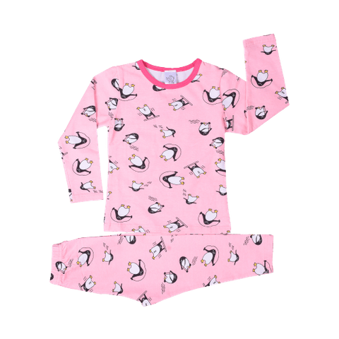 Pink Night Wear with All over Penguin Print