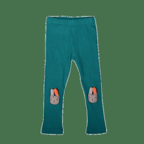 Green Legging with Rabbit Applique
