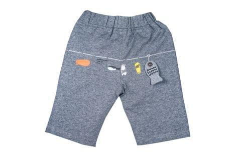 LullaBuy Fish Applique shorts