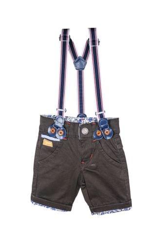 Shorts - Brown Bottom Floral w/ Suspender