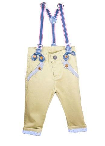 Pants - Beige Bottom Stripes w/ Suspender