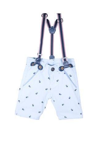 Shorts - Blue Dolphin Print w/ Suspender