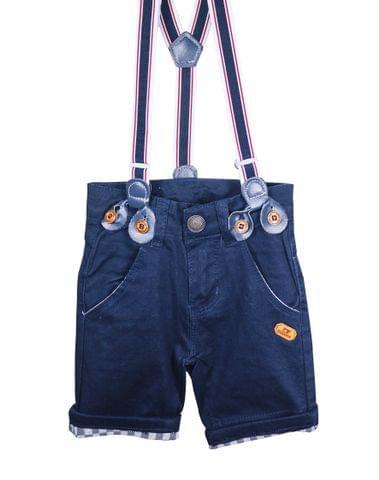 Shorts - Blue Bottom Checks w/ Suspender