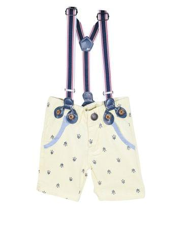 Shorts -Lemon Anchor Print w/ Suspender