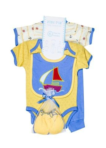 LullaBuy 6Pc Blue Yellow Gift Set