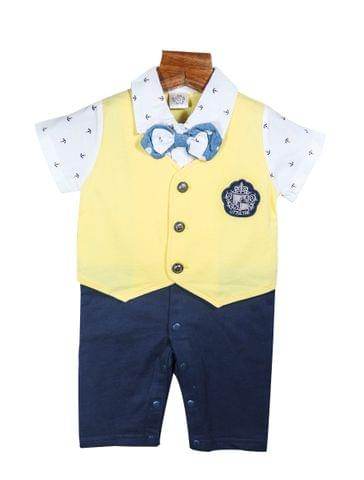 Lullabuy Romper with Double Bowtie and waistcoat