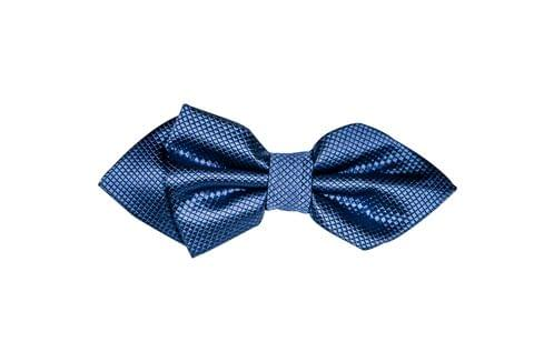 Bow Tie - Double Layered Blue w/ Diamonds