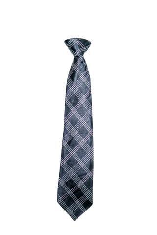 Tie - Black w/ Silver Checks