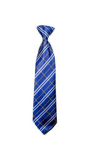 Tie - Blue w/ White & Yellow Checks