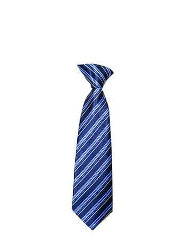 Tie - Blue w/ Broken Lines