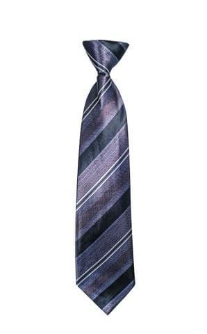 Tie - Silver w/ Black Arrow Pattern & Lines