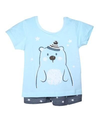 NightWear - Green Bear w/ Gray Stars SH