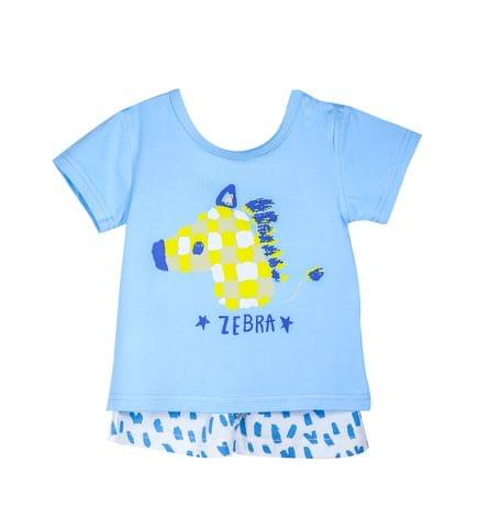 NightWear - Blue Zebra Face w/ White Patched SH