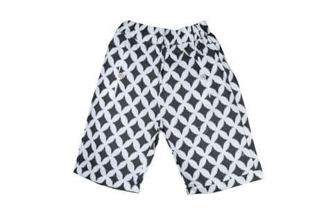 Shorts - Black Diamond Print
