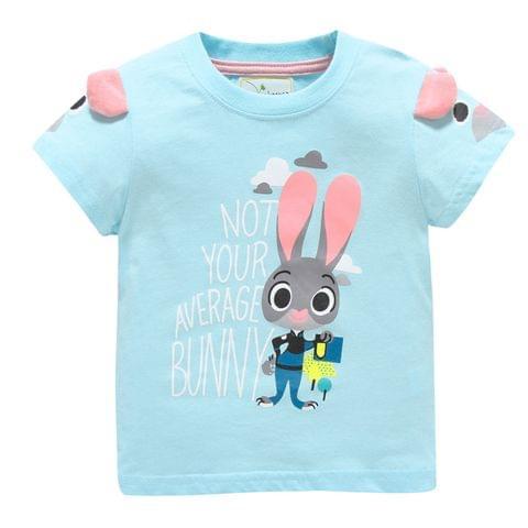 T-Shirt - Blue w/ Rabbit & 3D Ears