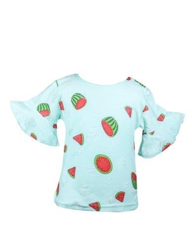 Top - HS Green Rugged w/Watermelon