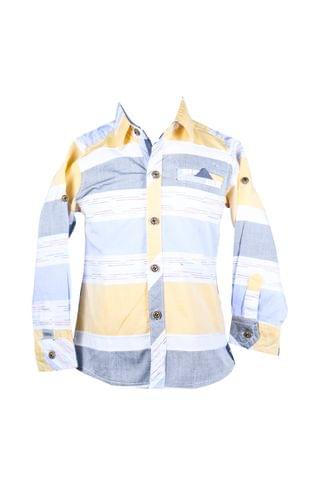 Shirt - FS Gray Yellow Blue w/ Pocket