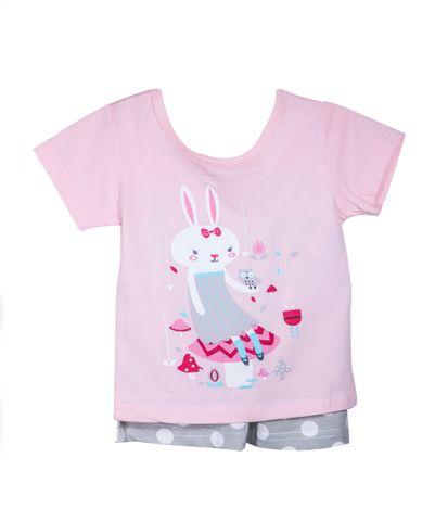 NightWear - Pink Rabbit w/ Gray Polka Dots SH
