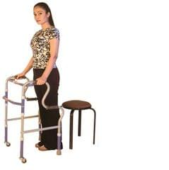 Vissco Step Adjustment Folding Walker with Castors 940