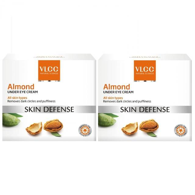 VLCC Natural Sciences Skin Defense Almond Under Eye Cream, 15ml (Pack of 2)
