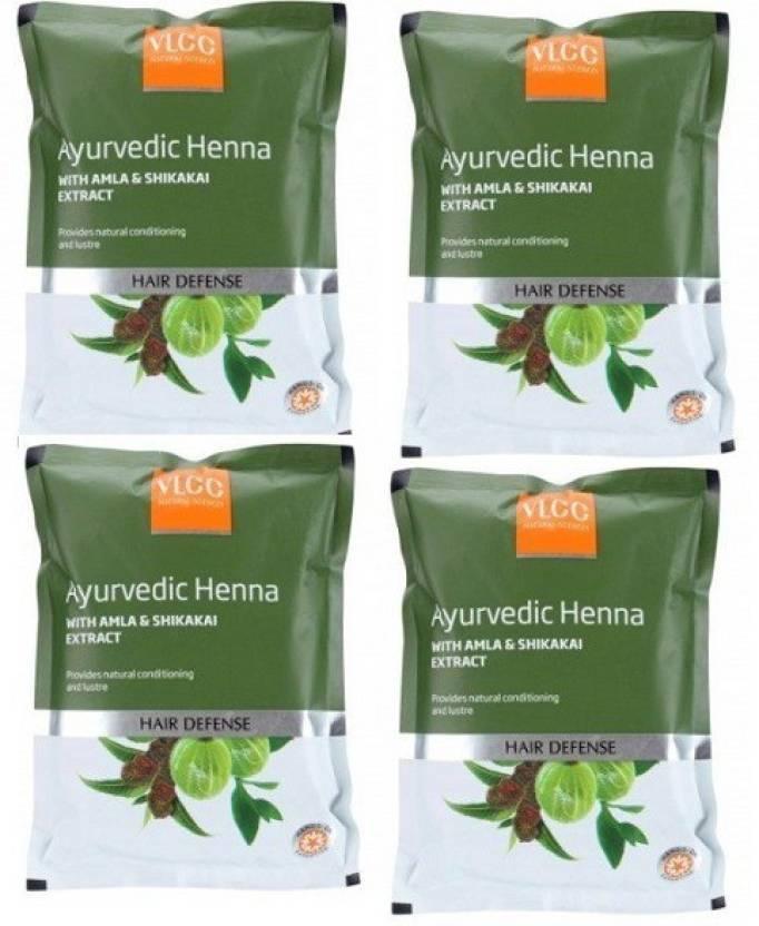 VLCC Natural Sciences Ayurvedic Henna With Amla & Shikakai Extract Hair Defense ( Pack Of 4)  (400 g)