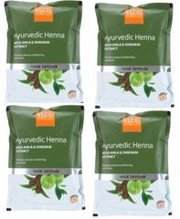 VLCC Natural Sciences Ayurvedic Henna With Amla & Shikakai Extract Hair Defense ( Pack Of 4)  (400 g)