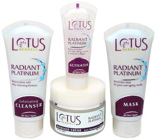 Lotus Herbal Radiant Platinum Cellular Anti-Ageing Facial Kit