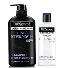 TRESemme Ionic Strength Shampoo, 580ml, TRESemme Ionic Strength Conditioner, 190ml (Combo Pack)