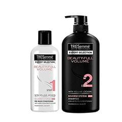 TRESemme Beauty Full Volume Conditioner, 190ml, TRESemme Beauty Full Volume Shampoo, 580ml (Combo Pack)