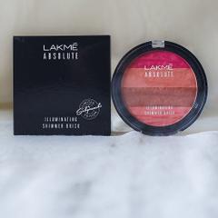 Lakme Absolute Illuminating Blush, Shimmer Brick in Pink, 10g