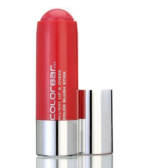 Colorbar All Day lip & Cheek Color Blush Stick 5gm_004-Coral Sunset