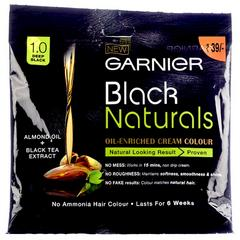 Garnier Black Naturals Oil Enriched Cream Hair Colour - 1.0 Deep Black