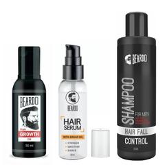 BEARDO Complete Hair Fall Control Kit (Hair Growth oil + Hair serum+ Shampoo)