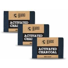 BEARDO ACTIVATED CHARCOAL Brick Soap 125g  Set Of 3