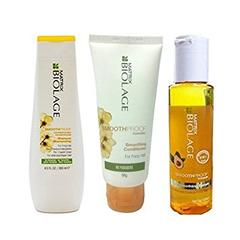 Matrix Biolage Smoothproof Smoothing Shampoo 200ml & Conditioner 98g&Serum 100ml Combo